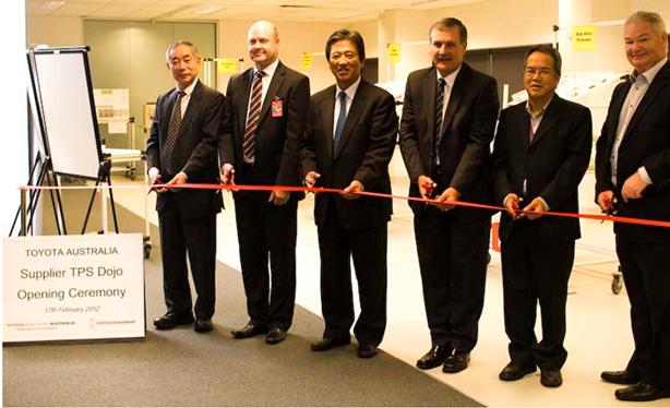 トヨタオーストラリアでのサプライヤーTPS(トヨタ生産方式)道場開所式に参加 2012年2月18日