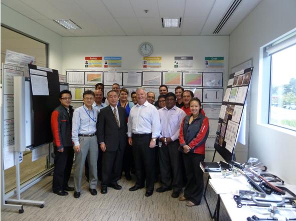 トヨタオーストラリア(株)の現地サプライヤ支援チームへの支援実施 2012年2月15日